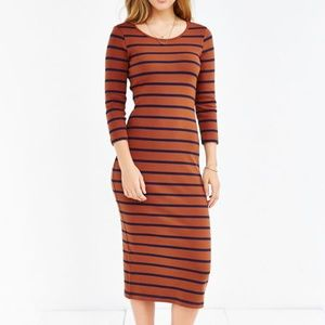 {Urban Outfitters} BDG Striped Knit Midi D…